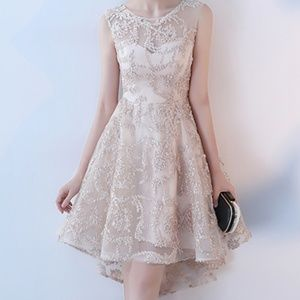 Gorgeous Champagne Wedding / Cocktail Dress NEW